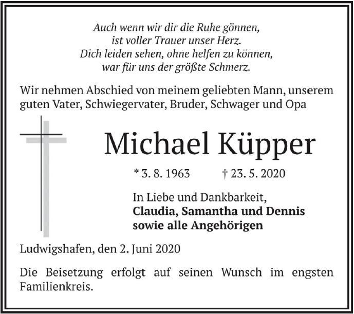 Traueranzeige von  Michael Küpper