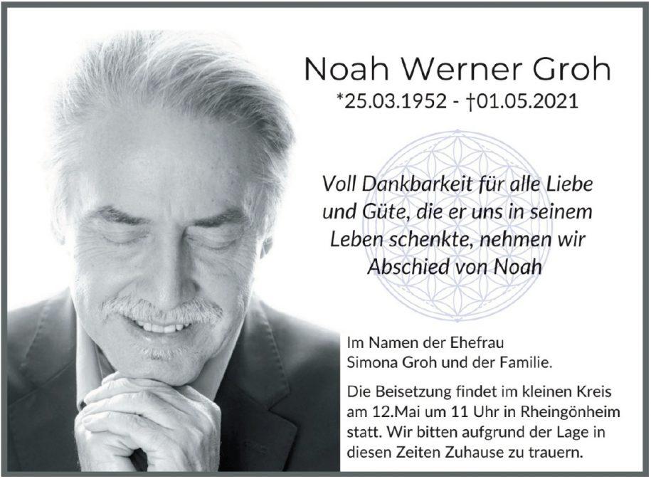 Traueranzeige von  Noah Werner Groh
