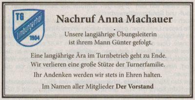 Traueranzeige von  Anna Machauer